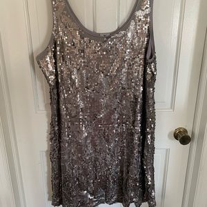 Preowned plus size 2X sequin tank dress